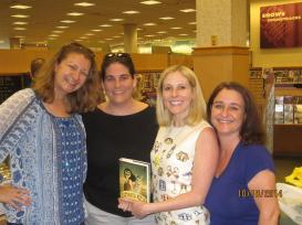 My high school buds came out to see me at the Fayetteville Barnes & Noble