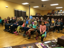 The crowd at Flyleaf Books