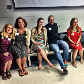Me, Tracy Holczer, Jess Keating, Jerzy Drozd, Liesl Shurtliff & Louise Borden (not pictured)